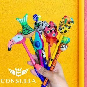 Consuela Paper Mache Refillable Ink Pen